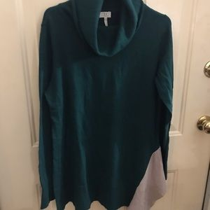 Cowl neck long cashmere sweater